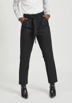 Vila - VISOFINA PANT - Pantalon classique - black
