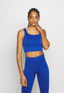 South Beach - SQUARE NECK TOP - Sujetador deportivo - cobalt