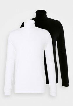 Topman - ROLL NECK 2 PACK - Pitkähihainen paita - black/white
