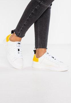Diesel - CLEVER S-CLEVER LOW W - Sneaker low - weiß/gelb