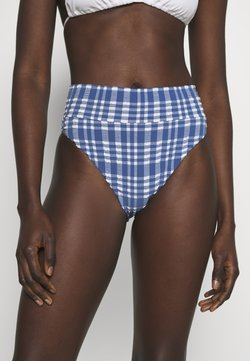 aerie - HI CUT CHEEKY PLAID - Bikini-Hose - jeweled blue