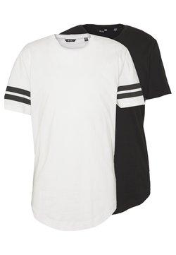 Only & Sons - ONSMATT LONGY SOLID STRIPE 2 PACK - T-shirt print - black/white