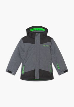 TrollKids - KIDS NOREFJELL  - Kurtka snowboardowa - grey melange/bright green