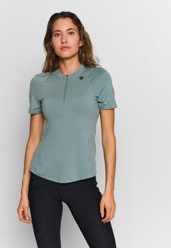 Under Armour - RUSH VENT - T-Shirt print - hushed turquoise/black