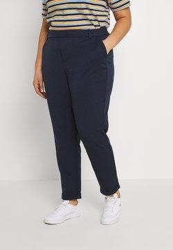 Vero Moda Curve - VMKAYA LOOSE SOLID PANT - Chino - navy blazer
