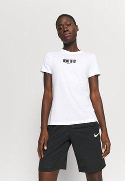 Nike Performance - DRY TEE BBALL - Printtipaita - white