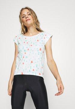 Zimtstern - STYLEZ TEE - T-Shirt print - white/florida/coral