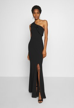 WAL G. - ONE SHOULDER BOW MAXI DRESS - Abito da sera - black