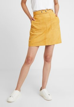 YAS - YASLILIE SKIRT - Leather skirt - sunflower