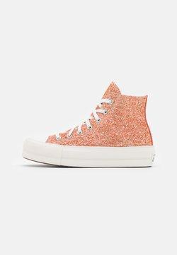 Converse - CHUCK TAYLOR ALL STAR LIFT - Zapatillas altas - healing clay/light gold/vintage white