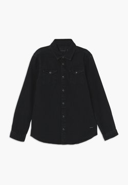 Scotch & Soda - EASY WESTERN WITH SEASONAL DETAILS - Koszula - black denim