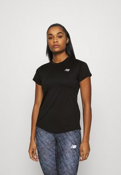 New Balance - ACCELERATE SHORT SLEEVE - Printtipaita - black