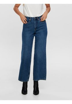 ONLY - Flared Jeans - dark blue denim