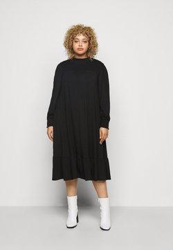 Dorothy Perkins Curve - SHIRRED YOKE DRESS - Jerseykjole - black