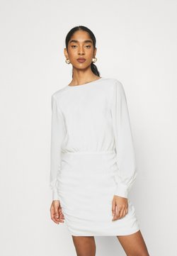 Nly by Nelly - OPEN BACK RUCHE DRESS - Cocktailkleid/festliches Kleid - offwhite