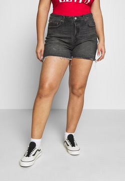 Levi's® Plus - 501® ORIGINAL SHORT - Farkkushortsit - black denim