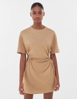 Bershka - Sukienka z dżerseju - beige
