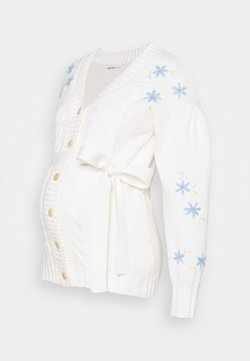 Glamorous Bloom - EMBROIDERED WITH LONG SLEEVES - Chaqueta de punto - cream