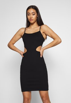 NA-KD - OPEN SIDE DETAIL DRESS - Shift dress - black