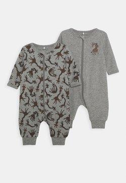 Name it - NBMNIGHTSUIT  ZIP GIRAFFE 2 PART - Pyjamas - grey melange