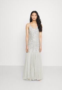 Maya Deluxe - DELICATE SEQUIN FISHTAIL MAXI DRESS - Vestido de fiesta - soft grey