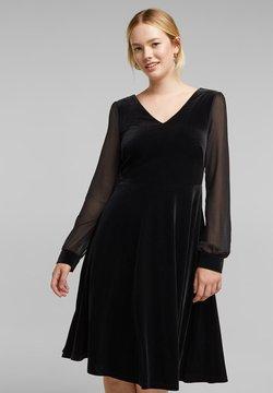 Esprit Collection - MIT CHIFFON-ÄRMELN - Robe d'été - black