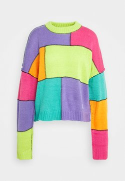 The Ragged Priest - COLOURBLOCK PANELLED JUMPER WITH EXPOSED SEAMS - Strickpullover - multi