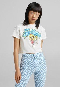 Bershka - T-shirt z nadrukiem - white