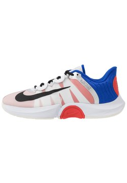 Nike Performance - COURT AIR ZOOM TURBO - Zapatillas de tenis para todas las superficies - white/black/racer blue/light crimson