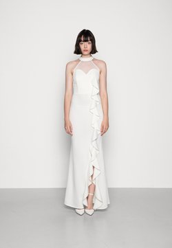 WAL G. - CHRISTIE RUFFLE MAXI DRESS - Jerseykleid - white