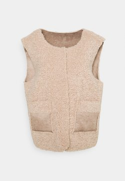 Cream - CROLA VEST - Smanicato - dusty rose