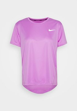 Nike Performance - MILER - T-shirt print - fuchsia glow/reflective silver