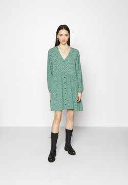Monki - TORBORG DRESS - Vestito estivo - green irrydot