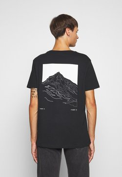 Jack & Jones - JCOSCALE TEE CREW NECK  - T-shirt print - black