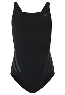 adidas Performance - PRO V 3-STRIPES SWIMSUIT - Swimsuit - black/ grey