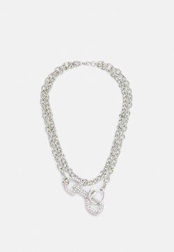 Uncommon Souls - RHINESTONE CLASP NECKLACE - Kaulakoru - silver-coloured