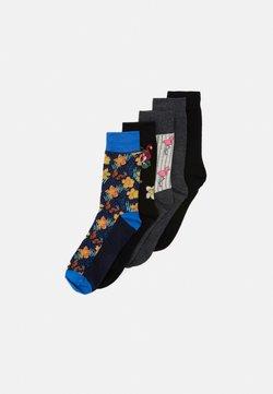 Jack & Jones - JACMIX OF ANIMALS SOCK 5 PACK - Socken - black/dark grey melange