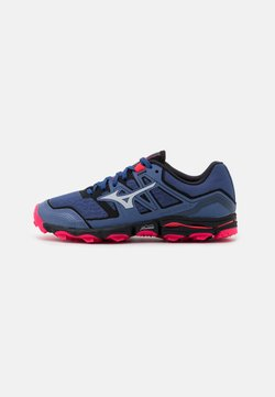 Mizuno - WAVE HAYATE 6 - Zapatillas de trail running - marlin/lunar rock/diva pink