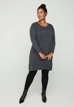 Zizzi - MIT A-PASSFORM - Strickkleid - dark grey