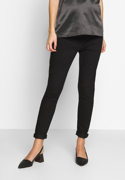Dorothy Perkins Maternity - OVERBUMP EDEN  - Slim fit -farkut - black