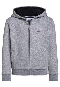 Lacoste Sport - TENNIS - veste en sweat zippée - silver chine/navy blue