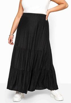 Yours Clothing - Faltenrock - black
