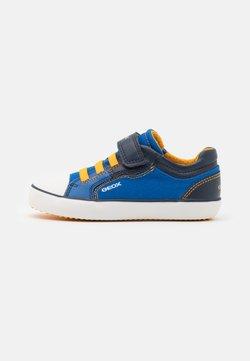 Geox - GISLI BOY - Sneaker low - royal/yellow
