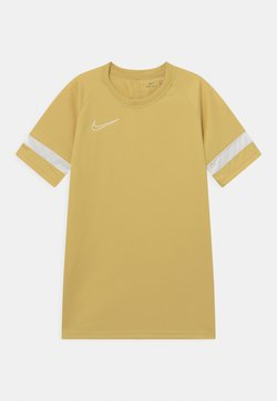 Nike Performance - ACADEMY UNISEX - T-shirt med print - saturn gold/white