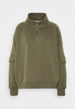 Noisy May - NMHELENE ZIP - Sweatshirt - kalamata