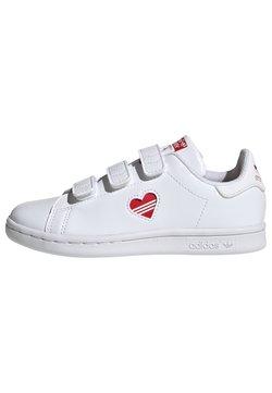 adidas Originals - STAN SMITH CF C PRIMEGREEN ORIGINALS SNEAKERS SHOES - Baskets basses - white/vivid red