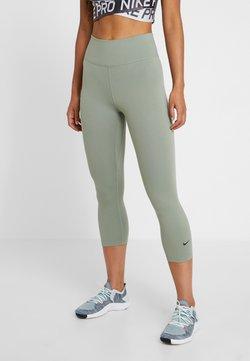 Nike Performance - NIKE ONE TIGHT CAPRI - Tights - jade stone/black