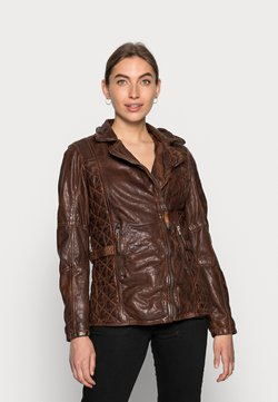 Gipsy - ADVANCE - Leather jacket - chestnut