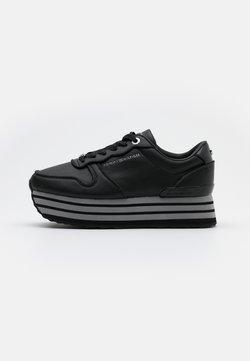 Tommy Hilfiger - GLITTER FLATFORM  - Sneakers basse - black