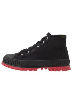 Palladium - PALLASHOCK MID - Lace-up ankle boots - black/red